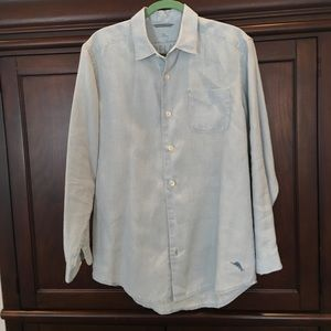 Tommy Bahama Men's long sleeve linen shirt